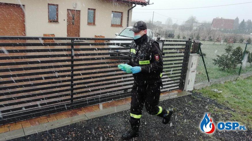 Dystrybucja maseczek ochronnych OSP Ochotnicza Straż Pożarna
