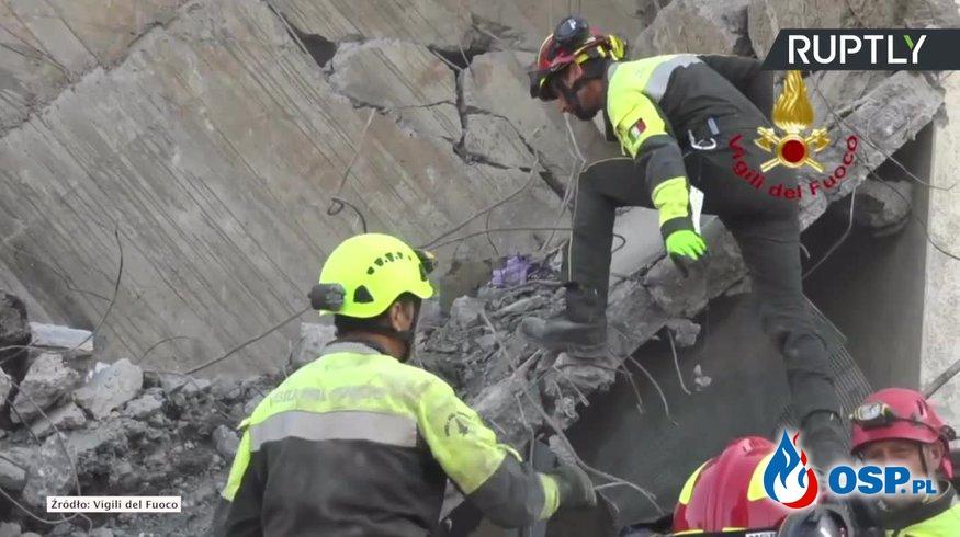 Matka, ojciec i 9-letnia córka odnalezieni w zmiażdżonym samochodzie, w gruzach mostu. OSP Ochotnicza Straż Pożarna
