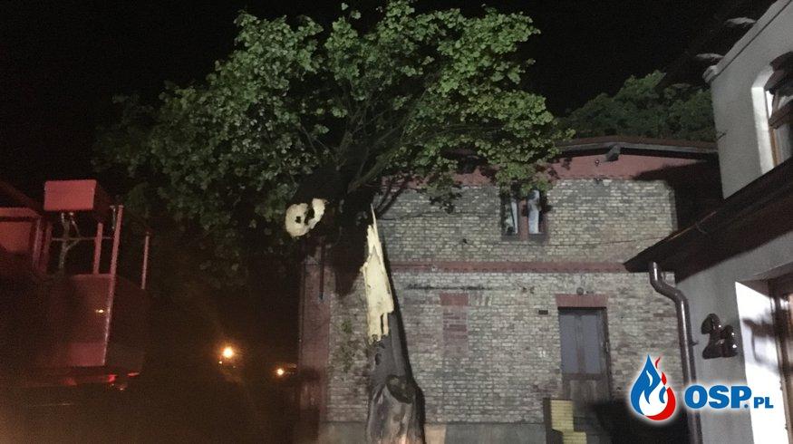 Burze nad gminą Zawadzkie. OSP Ochotnicza Straż Pożarna