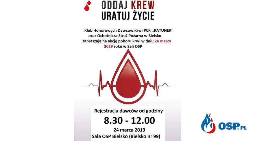 Akcja poboru krwi w Bielsku OSP Ochotnicza Straż Pożarna