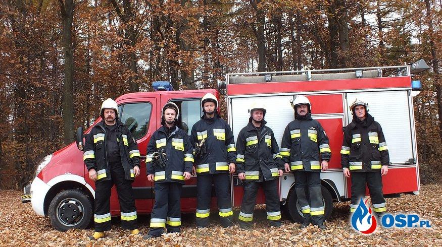 Gminne ćwiczenia w lesie ( Grajów ) OSP Ochotnicza Straż Pożarna