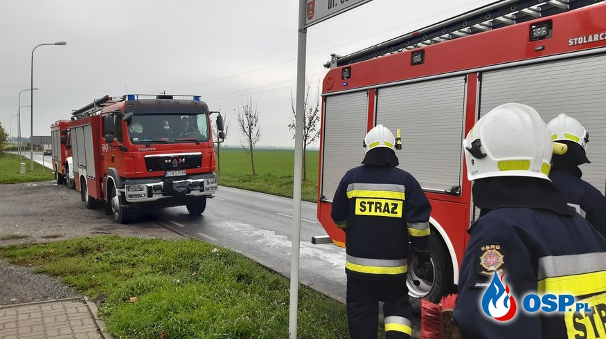 02.11.19 8:53 - PLAMA OLEJU, Balice->Broniewice OSP Ochotnicza Straż Pożarna