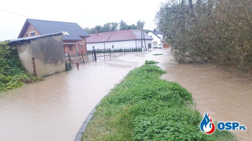 Powódź w Krzanowicach OSP Ochotnicza Straż Pożarna
