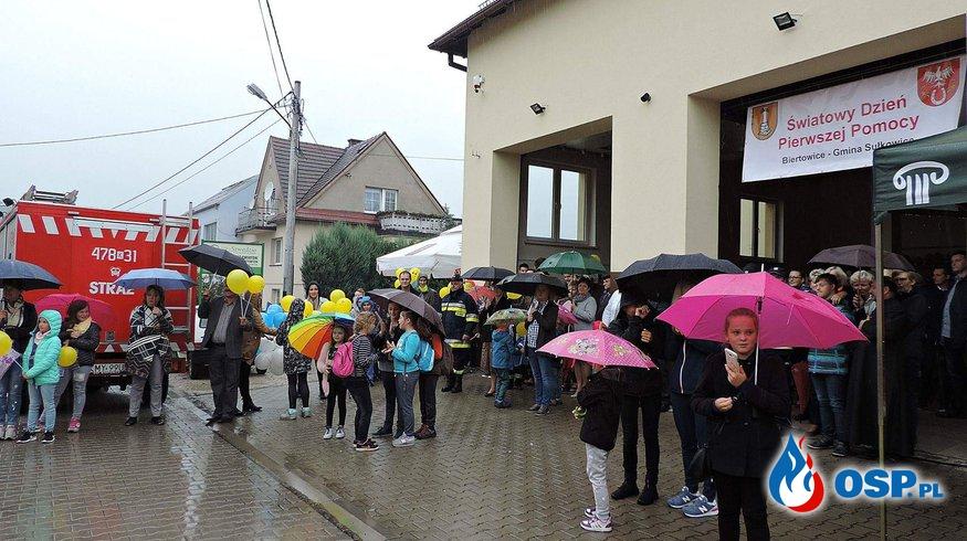 I Gminne Obchody Światowego Dnia Pierwszej Pomocy w Biertowicach. OSP Ochotnicza Straż Pożarna