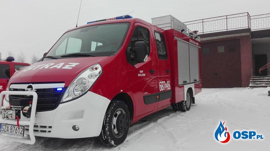 Nowy samochód ratowniczo gaśniczy w OSP GULZÓW. OSP Ochotnicza Straż Pożarna