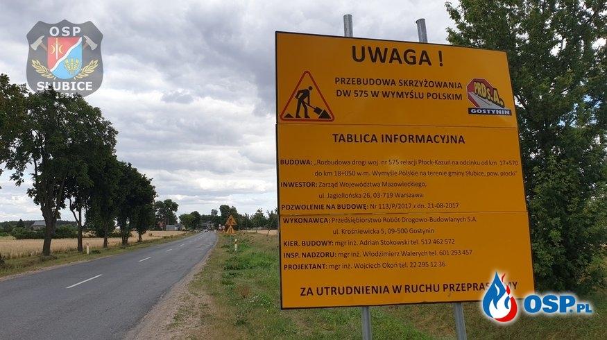 Przebudowa skrzyżowania w Wymyślu Polskim – jedźcie ostrożnie OSP Ochotnicza Straż Pożarna