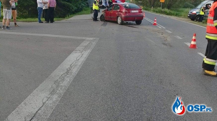 Wypadek autokaru z dziećmi OSP Ochotnicza Straż Pożarna