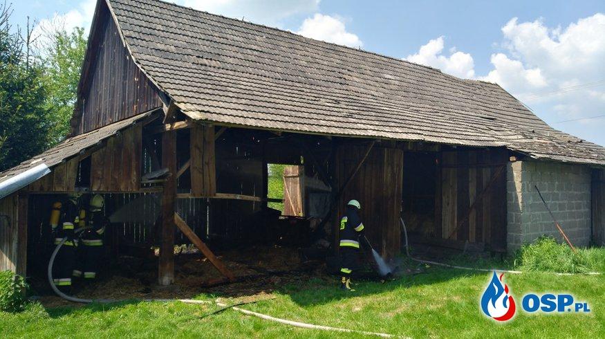 Dzięki szybkiej reakcji uratowali drewnianą stodołę. OSP Ochotnicza Straż Pożarna