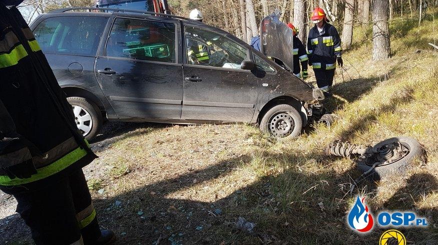 18-04-2019 (czwartek) wypadek Barcino-Kuleszewo OSP Ochotnicza Straż Pożarna