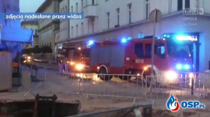 Strażacy do alarmu na piechotę... Skutki rozkopanej drogi w Opolu OSP Ochotnicza Straż Pożarna