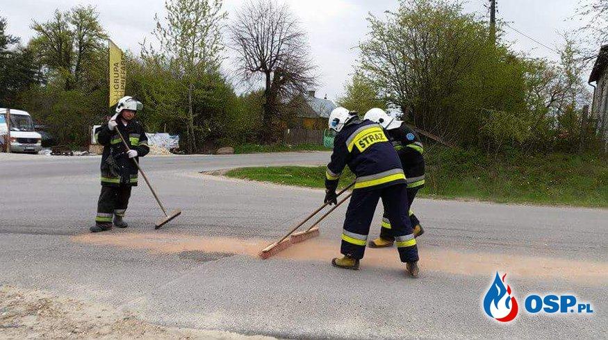 Plama oleju o długości 3 kilometrów. OSP Ochotnicza Straż Pożarna