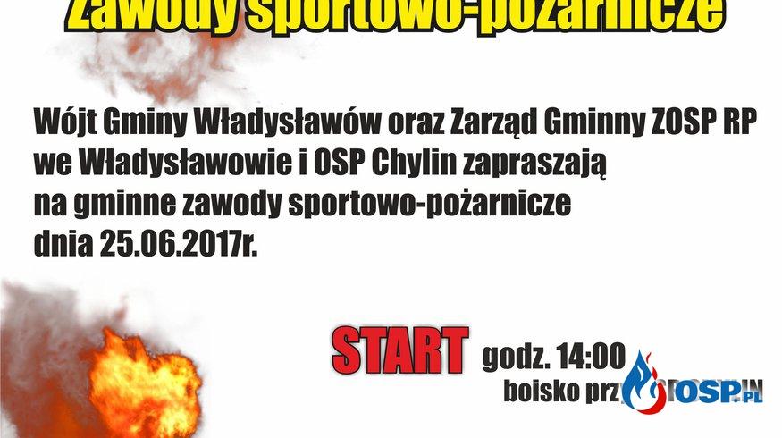Zaproszenie na Gminne Zawody Sportowo - Pożarnicze. OSP Ochotnicza Straż Pożarna