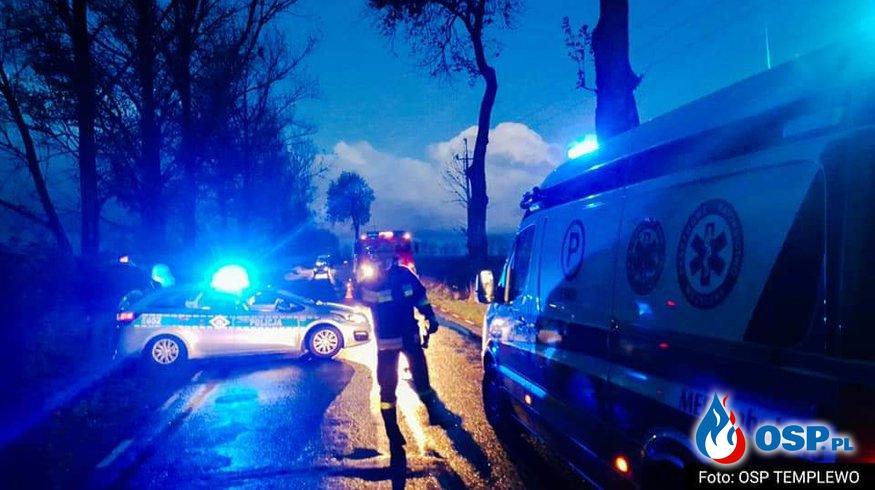 Wypadek - Jenot sprawcą OSP Ochotnicza Straż Pożarna
