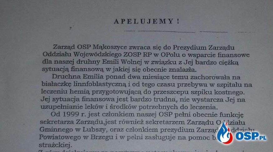 Pomóżmy Druchnej z Mąkoszyc OSP Ochotnicza Straż Pożarna