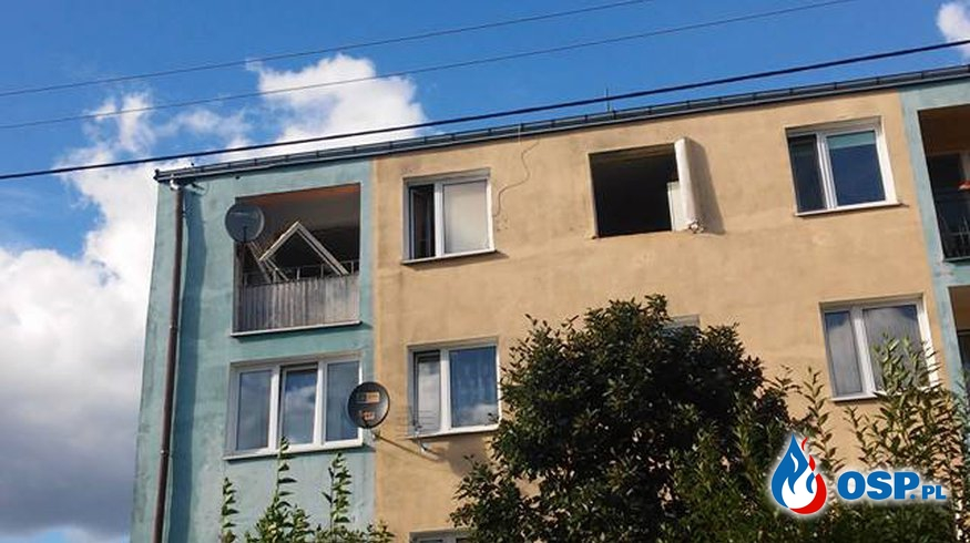 Wybuch gazu! OSP Ochotnicza Straż Pożarna