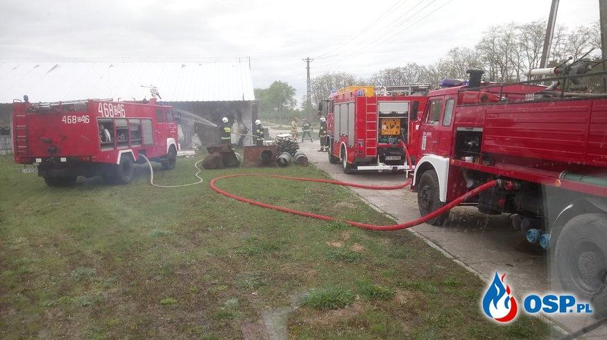 Pożar kurnika w Dziennicach OSP Ochotnicza Straż Pożarna