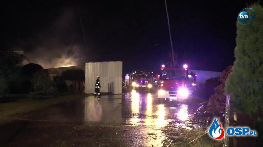 Pożar tartaku w Dobrogostowie w Wielkopolsce OSP Ochotnicza Straż Pożarna