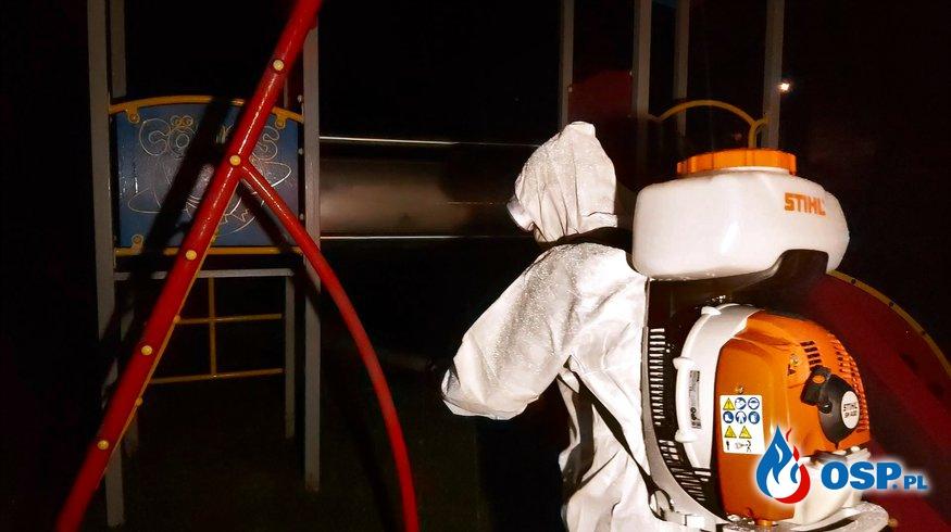 Dezynfekcja Przedszkola w Babicach OSP Ochotnicza Straż Pożarna