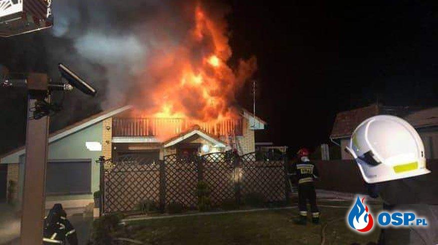 Pożar Domku Letniskowego OSP Ochotnicza Straż Pożarna