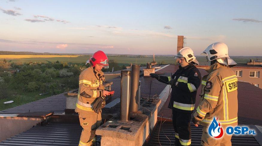 99/2021 Pożar komina - Grzybno OSP Ochotnicza Straż Pożarna