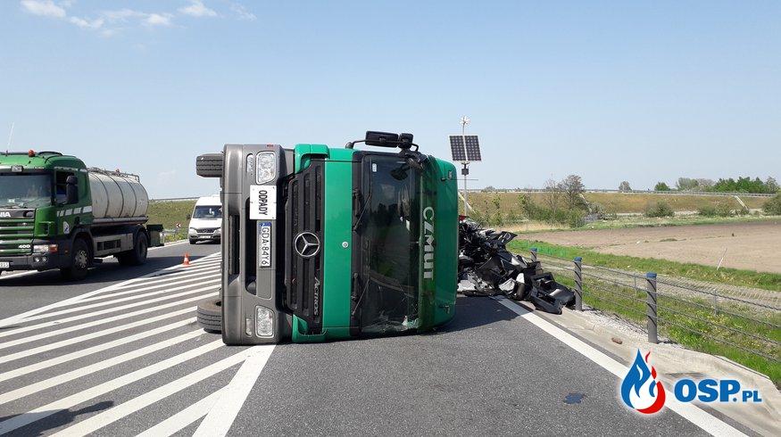 Wypadek drogowy DK50 OSP Ochotnicza Straż Pożarna