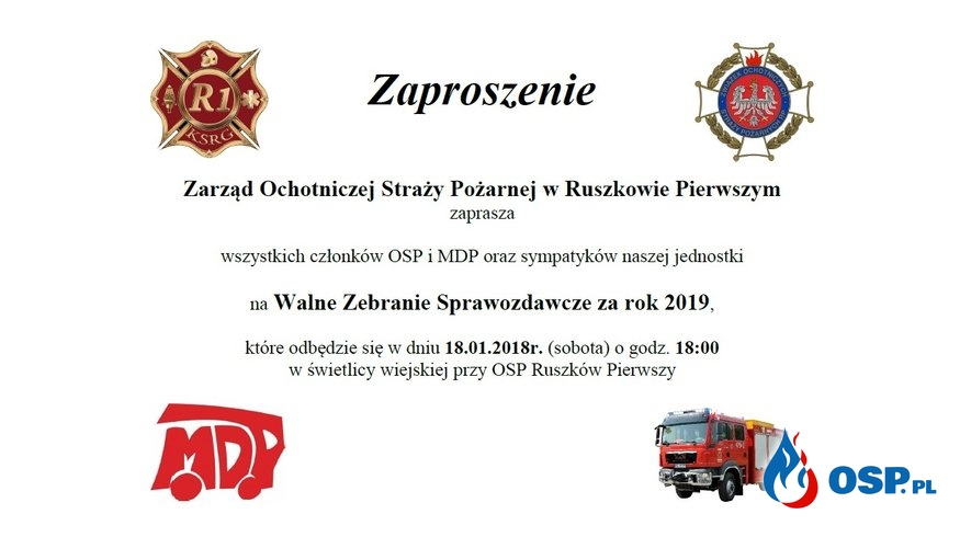 Serdecznie zapraszamy! OSP Ochotnicza Straż Pożarna