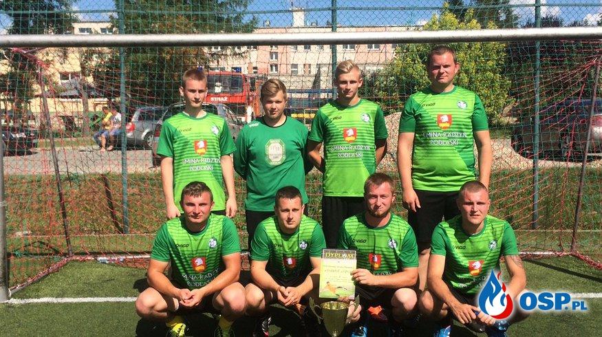 Turniej drużyn OSP w piłce nożnej na szczeblu powiatowym. OSP Ochotnicza Straż Pożarna