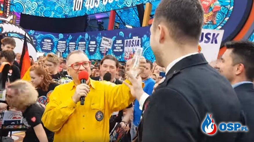 Jurek Owsiak podziękował strażakom-ochotnikom z całej Polski OSP Ochotnicza Straż Pożarna