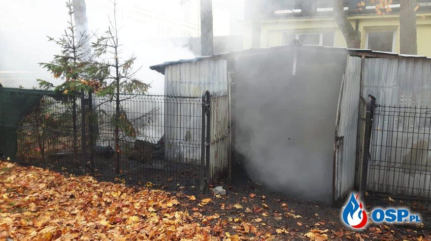 Pożar wiaty w Mrzeżynie OSP Ochotnicza Straż Pożarna