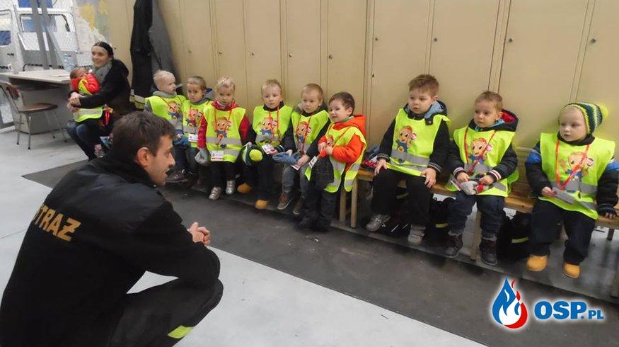Amica - Wycieczka Leśnych Ludków i Muchomorków z przedszkola Amica Kids w naszej strażnicy. OSP Ochotnicza Straż Pożarna