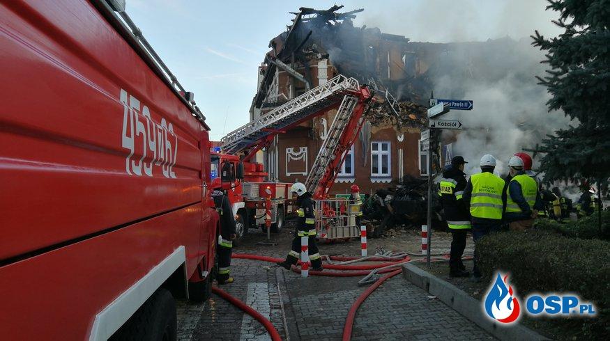 Wybuch gazu w Mieszkowicach. OSP Ochotnicza Straż Pożarna