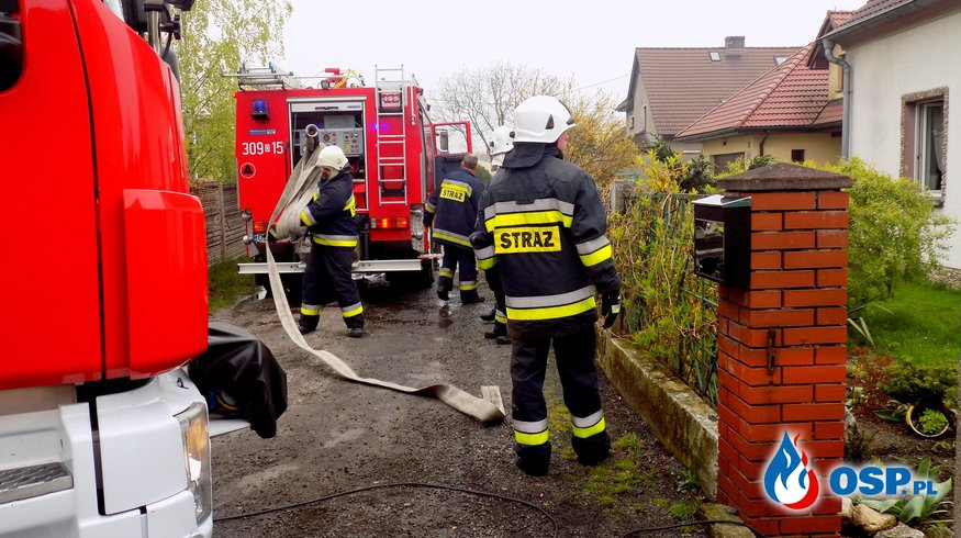 O krok od tragedii - pożar kotłowni OSP Ochotnicza Straż Pożarna