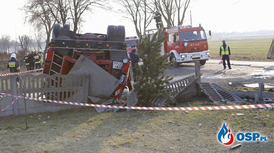 To już pewne. Strażak, który spowodował wypadek, nie miał prawa jazdy! OSP Ochotnicza Straż Pożarna