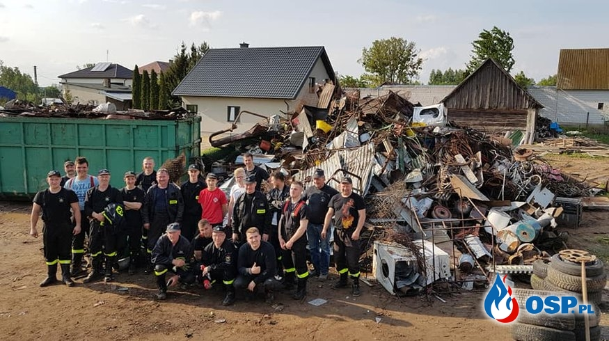 Strażacy zebrali ponad 40 ton złomu. Pieniądze przeznaczą na sprzęt ratowniczy. OSP Ochotnicza Straż Pożarna