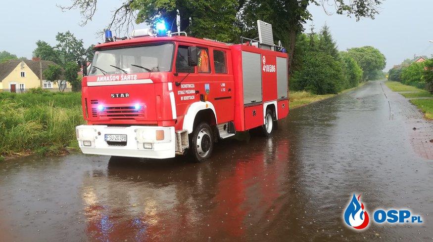 Pompowanie wody OSP Ochotnicza Straż Pożarna