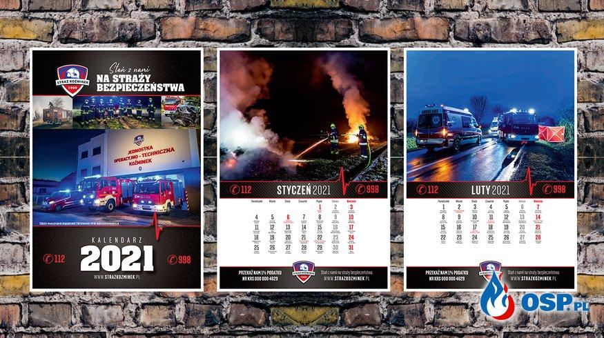 Kalendarz STRAŻ KOŹMINEK 2021 OSP Ochotnicza Straż Pożarna