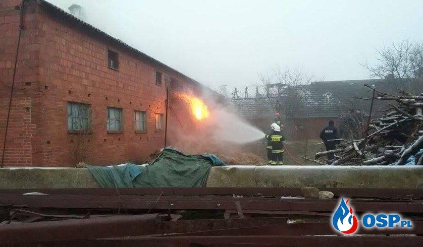 POŻAR STODOŁY ORAZ BUDYNKÓW GOSPODARCZYCH OSP Ochotnicza Straż Pożarna