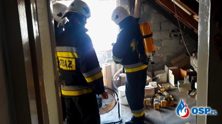 Pożar domu jednorodzinnego - ul. Piastowska w Babicach OSP Ochotnicza Straż Pożarna