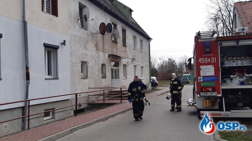 49/2020 Obecność tlenku węgla w budynku wielorodzinnym OSP Ochotnicza Straż Pożarna