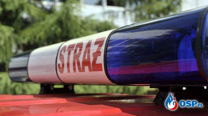 Zderzenie dwóch pojazdów OSP Ochotnicza Straż Pożarna