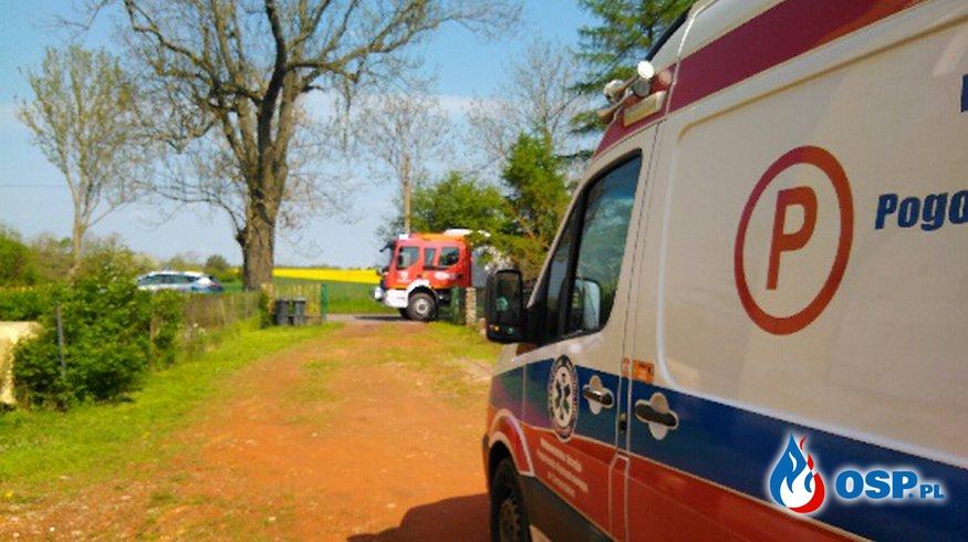 Pomoc dla pogotowia i policji OSP Ochotnicza Straż Pożarna