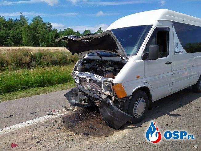 Wypadek 3 pojazdów na DK7 OSP Ochotnicza Straż Pożarna