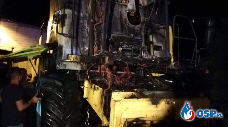 Pożar maszyn rolniczych OSP Ochotnicza Straż Pożarna