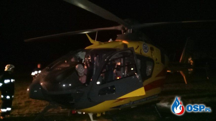 Ćwiczenia praktyczne z Lotniczym Pogotowiem Ratunkowym OSP Ochotnicza Straż Pożarna