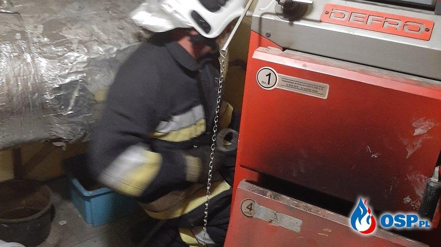 Pożar sadzy w przewodzie kominowym - 6 sierpnia 2020r. OSP Ochotnicza Straż Pożarna