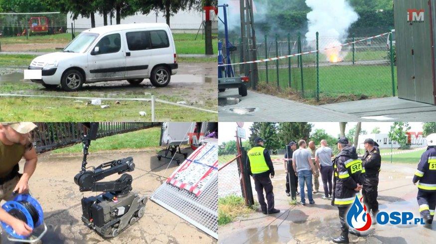 Pirotechnicy zdetonowali ładunek podłożony pod samochodem. To nie były ćwiczenia! OSP Ochotnicza Straż Pożarna