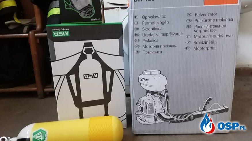 Nowy sprzęt w naszej jednostce. OSP Ochotnicza Straż Pożarna