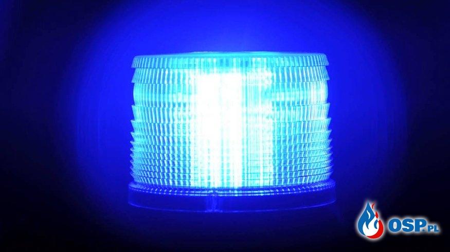 Wypadek dwóch samochodów osobowych na DW 955 - 6 grudnia 2019r. OSP Ochotnicza Straż Pożarna