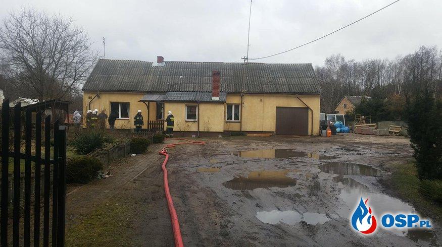 Pożar kotłowni w Malużynie OSP Ochotnicza Straż Pożarna