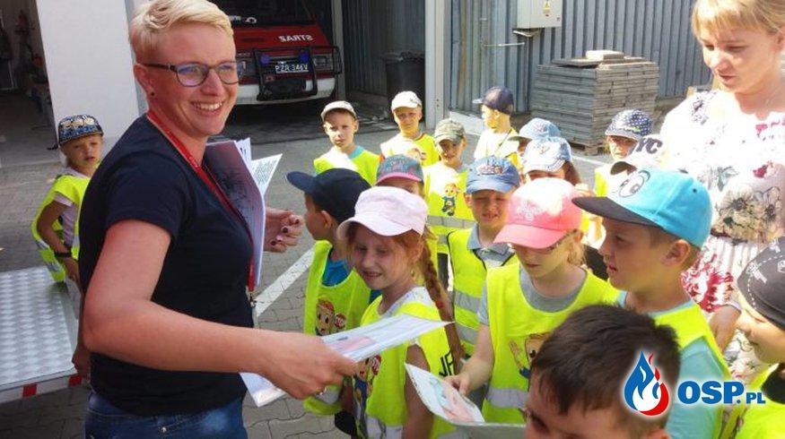 Amica – Wycieczka Żabek i Muchomorków z przedszkola Amica Kids w naszej strażnicy OSP Ochotnicza Straż Pożarna